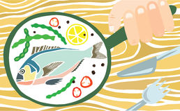Tasty Colourful Freshly Cooked Fish Royalty Free Stock Photography