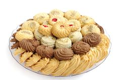 Tasty cookies and biscuits, selective focus Royalty Free Stock Photography
