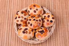 Tasty cookies with raisins Stock Photography