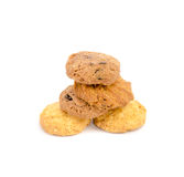 Tasty cookies on a white background Royalty Free Stock Photography