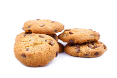 Tasty cookies on a white background. Royalty Free Stock Photography