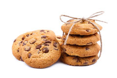 Tasty cookies on a white background. Stock Image