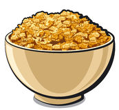 Tasty cornflakes. Bowl of a tasty cornflakes Royalty Free Stock Photo