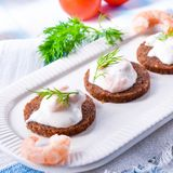 Tasty crab salad Royalty Free Stock Images
