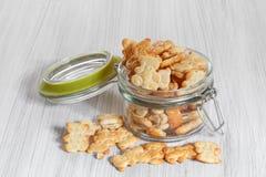 Tasty crackers for children Stock Photo