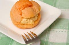 Tasty cream puff for dessert Royalty Free Stock Image