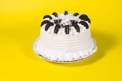 Tasty creamy birthday cake Royalty Free Stock Images