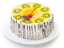 Tasty creamy cake Stock Images
