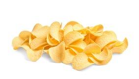 Tasty crispy potato chips royalty free stock images