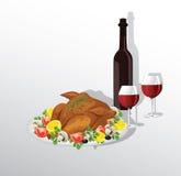 Tasty crispy roast turkey Royalty Free Stock Photography
