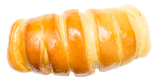 Tasty Croissant With Honey Topping On White Royalty Free Stock Photos
