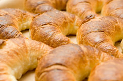 Tasty croissants or crescent rolls Stock Images