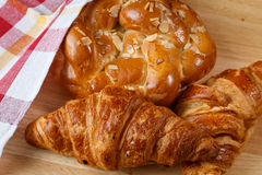 Tasty croissants and pastries Royalty Free Stock Photos