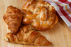 Tasty croissants and pastries Royalty Free Stock Image