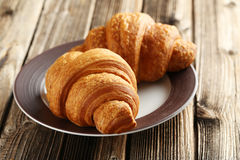 Tasty croissants Stock Photo