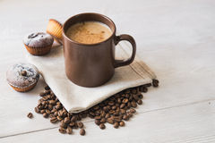 Tasty cup of coffee Royalty Free Stock Photo