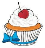 Cupcake with ribbon Stock Photo