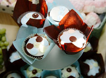 Tasty cupcake with chocolate Stock Photo