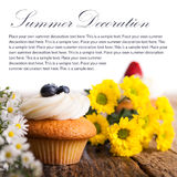 Tasty cupcake and flowers Stock Photography