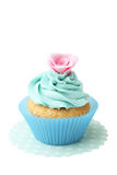 Tasty cupcake isolated on a white. Tasty cupcake isolated on white Stock Photos