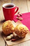 Tasty cupcake and tea Royalty Free Stock Photo
