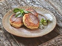 Tasty curd pancake Royalty Free Stock Image