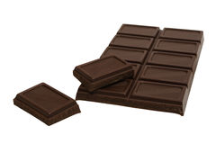 Tasty dark chocolate Stock Photos