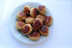Tasty delicious homemade organic meat cutlets of pork and beef with a golden crust Royalty Free Stock Images