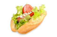 Tasty and delicious hotdog Stock Images