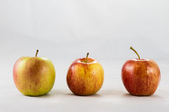 Tasty, delicious ripe apples on a white background Royalty Free Stock Photo