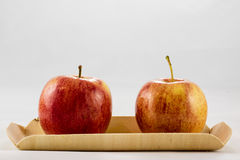 Tasty, delicious ripe apples on a white background Royalty Free Stock Image