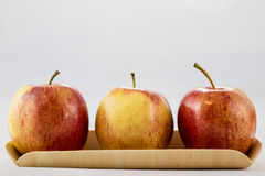 Tasty, delicious ripe apples on a white background Royalty Free Stock Photography