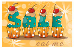 Tasty design for shopping and sale banner. Tasty design for shopping and sale banner Stock Photo