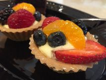 Tasty Dessert. Colorful Fruit Tarts Royalty Free Stock Photos