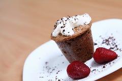 Tasty dessert with cream Stock Photography