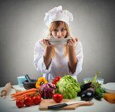 Tasty dish of a chef. Tasty dish full of vegetables of a chef Stock Photography