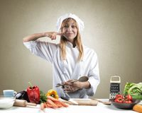 Tasty dish of a chef Royalty Free Stock Photography