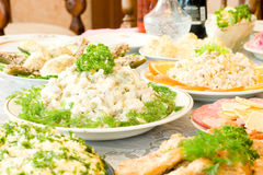 Tasty dishes. Banquet in the restaurant Stock Photography