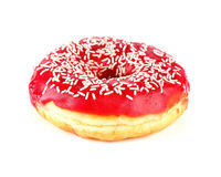 Tasty donut, isolated on white Royalty Free Stock Photography