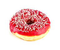 Tasty donut, isolated on white Stock Photos