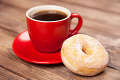 Free Tasty Donut With A Cup Of Coffee Stock Photography - 37848762