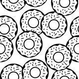 Tasty donuts vector seamless pattern, template Stock Photos