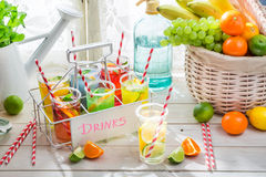 Tasty drink with citrus fruits Royalty Free Stock Image