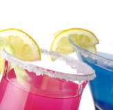 Tasty drinks on white Royalty Free Stock Photography