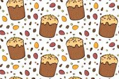 Easter cake seamless pattern royalty free illustration