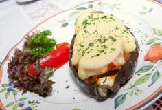Tasty eggplant royalty free stock photos