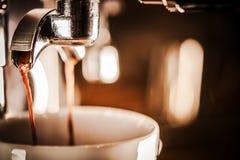 Tasty Espresso Brewing Royalty Free Stock Photos