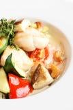 Tasty european vegitable salad with mushrooms Stock Images