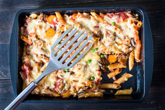 Tasty and fat casserole Royalty Free Stock Image