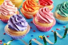 Tasty festive cupcakes Royalty Free Stock Photography